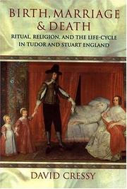 Cover of: Birth, marriage, and death