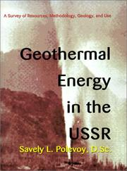 Cover of: Geothermal energy in the USSR