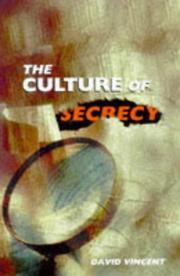 Cover of: The culture of secrecy