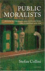 Cover of: Public moralists | Stefan Collini