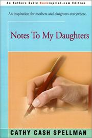 Cover of: Notes to my daughters