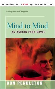 Cover of: Mind to Mind: An Ashton Ford Novel (Ashton Ford)