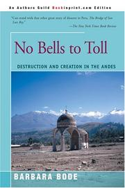 Cover of: No Bells to Toll | Barbara Bode