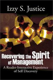 Cover of: Recovering the Spirit of Management | Justice