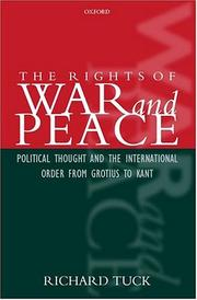 Cover of: The rights of war and peace | Richard Tuck