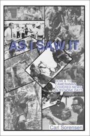 Cover of: As I Saw It | Carl Sorensen