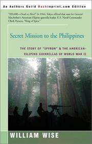Cover of: Secret mission to the Philippines
