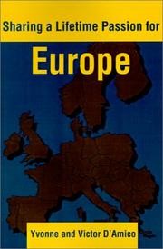 Cover of: Sharing a Lifetime Passion for Europe | Victor D