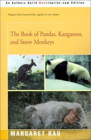 Cover of: The Book of Pandas, Kangaroos, and Snow Monkeys