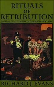 Cover of: Rituals of retribution | Richard J. Evans