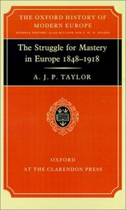 Cover of: The Struggle for Mastery in Europe