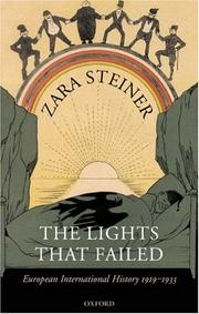 Cover of: The lights that failed | Zara S. Steiner