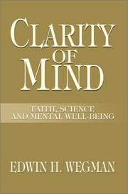 Cover of: Clarity of Mind | Edwin Wegman