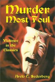 Cover of: Murder Most Foul | Arelo Sederberg