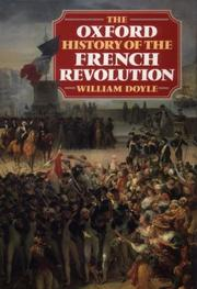 Cover of: The Oxford history of the French Revolution