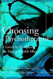 Cover of: Choosing a Psychotherapist | Donna Volpe Strouse