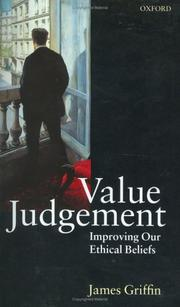 Cover of: Value judgement