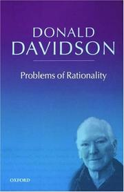 Cover of: Problems of rationality