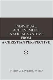 Cover of: Individual Achievement in Social Systems From a Christian Perspective