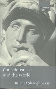 Cover of: Consciousness and the world