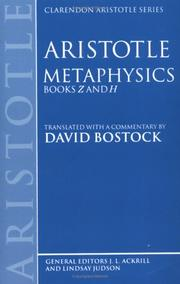 Cover of: The Works of Aristotle