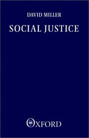 Cover of: Social justice