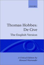 De cive by Thomas Hobbes