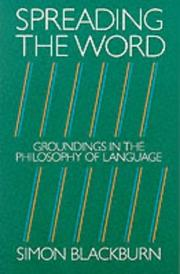Cover of: Spreading the word: groundings in the philosophy of language