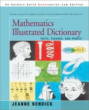 Cover of: Mathematics illustrated dictionary