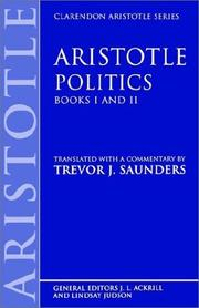 Cover of: Politics | Aristotle