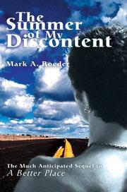 Cover of: The Summer Of My Discontent