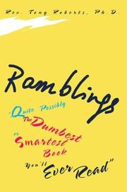 Cover of: Ramblings | Tony Roberts