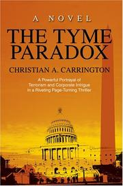 Cover of: The Tyme Paradox | Christian A. Carrington