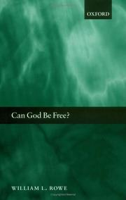 Cover of: Can God be free?