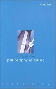 Cover of: Introduction to a Philosophy of Music