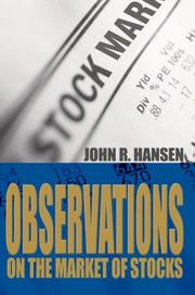 Cover of: Observations on the Market of Stocks