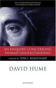 Cover of: An Enquiry Concerning Human Understanding (The Clarendon Edition of the Works of David Hume)