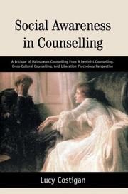 Cover of: Social Awareness In Counselling | Lucy Costigan