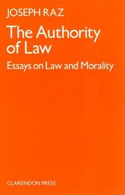 The authority of law by Joseph Raz