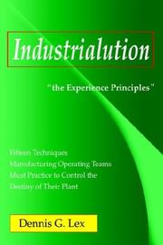 Cover of: Industrialution | Dennis G. Lex