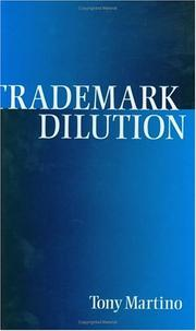 Cover of: Trademark dilution | Tony Martino
