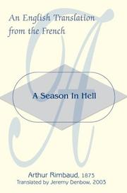 Cover of: A Season In Hell | Arthur Rimbaud