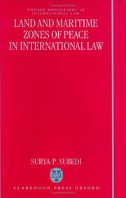 "Cover of: Land and maritime zones of peace in international law | SuМ""ryaprasaМ""da SuvediМ"""