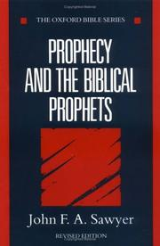 Cover of: Prophecy and the biblical prophets