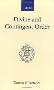 Cover of: Divine and contingent order