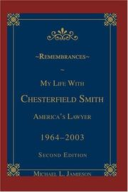 Cover of: Remembrances: My Life with Chesterfield Smith | Michael L. Jamieson