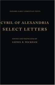 Cover of: Cyril of Alexandria, select letters