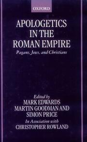 Cover of: Apologetics in the Roman Empire |