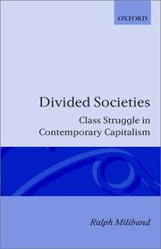 Cover of: Divided societies | Ralph Miliband