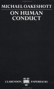 Cover of: On human conduct